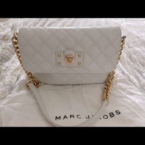 Marc Jacobs white quilted bag with chain strap